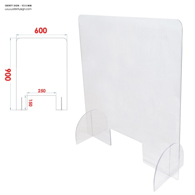 PLEXI 5 mm PROTECTION 60 x 90 cm - PHARMACIE