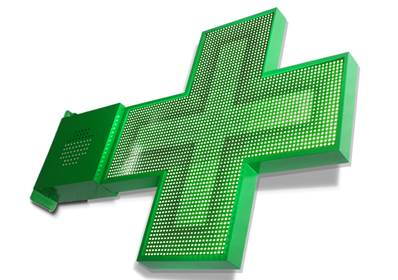 CROIX DE PHARMACIE FULL HD LED 1300