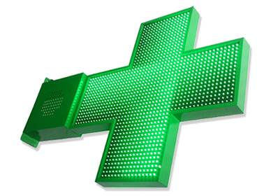CROIX DE PHARMACIE EASY LED 1300