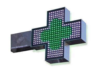 CROIX DE PHARMACIE EASY LED 500